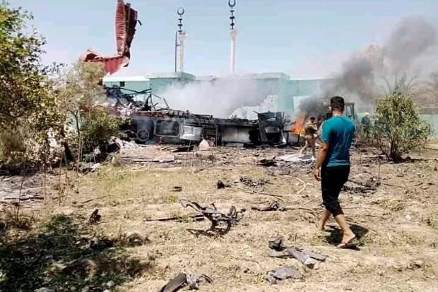 202107072142257923_Rockets hit Iraqi base housing US forces wounding two _SECVPF