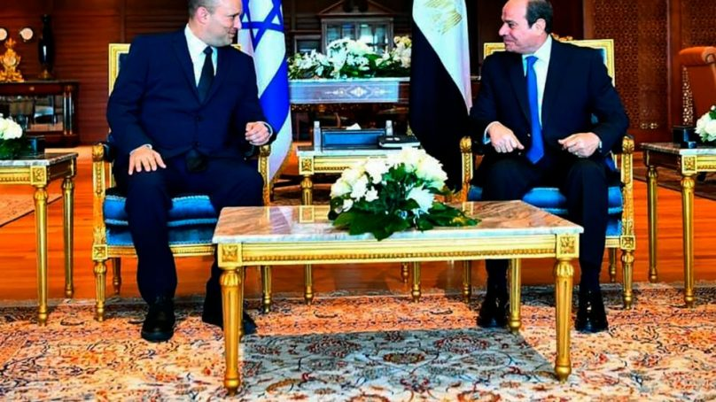 Israeli Prime Minister on First Official Trip to Egypt in 808x454